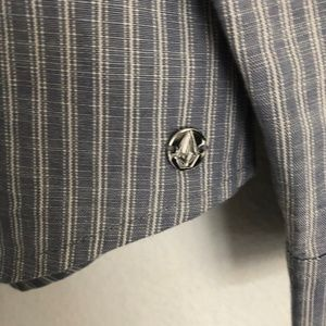 Volcom Tops - Volcom Cham Stripes Button down shirt size Medium